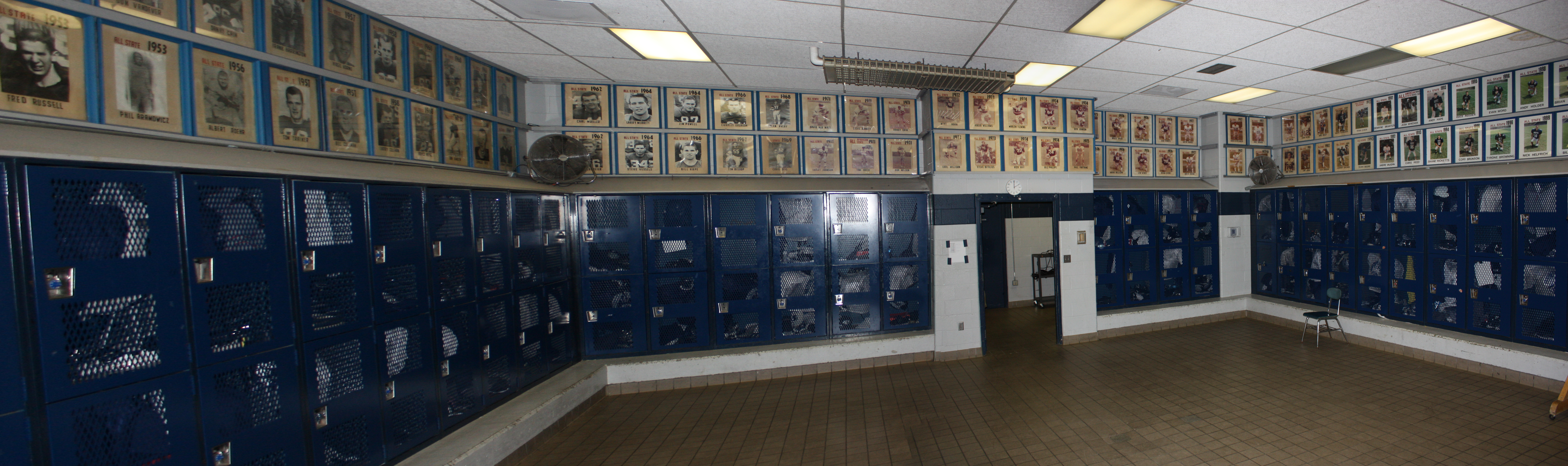 All Of The All State Football Players In Reitz High School History Going  Back To 1927 Are Displayed In Photographs In The Main Locker Room Of The  Field ... Part 40